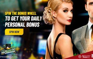 spin the bonus wheel at maChance casino
