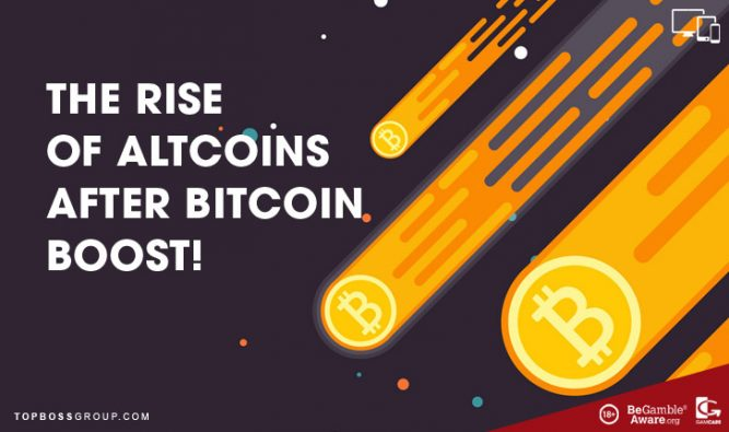The rise of altcoins after bitcoin boost