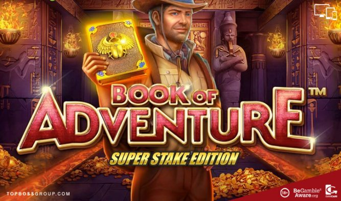 Stakelogic presents Book of Adventure Super Stake Edition slot