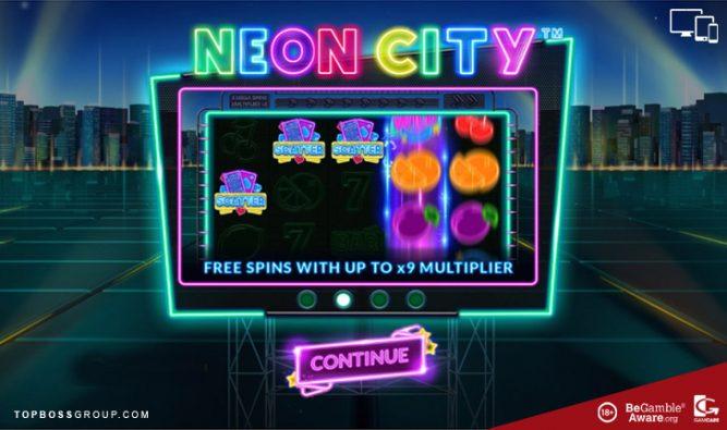 Neon City Slot by Wazdan software