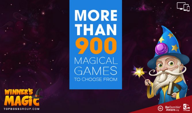 Winners Magic casino with over 900 games