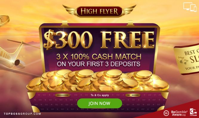 high flyer casino offering a top bonus for new players
