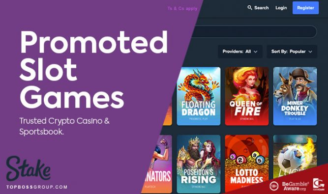 stake casino promoted slot games