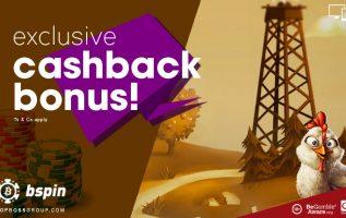 bspin exclusive cashback bonus casino