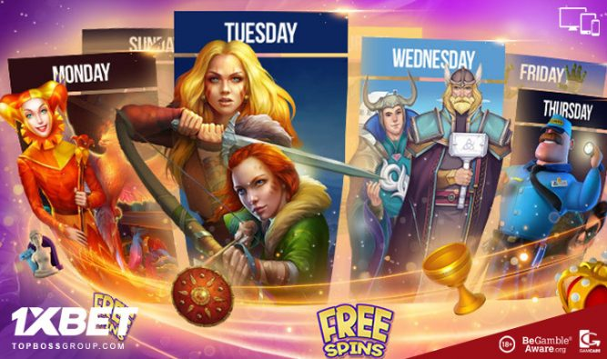 1xbet Casino offering many free spin week day offers