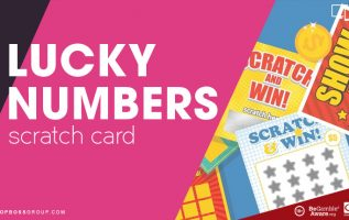 Lucky numbers scratch card