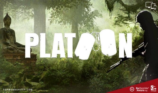 war slot game theme platoon