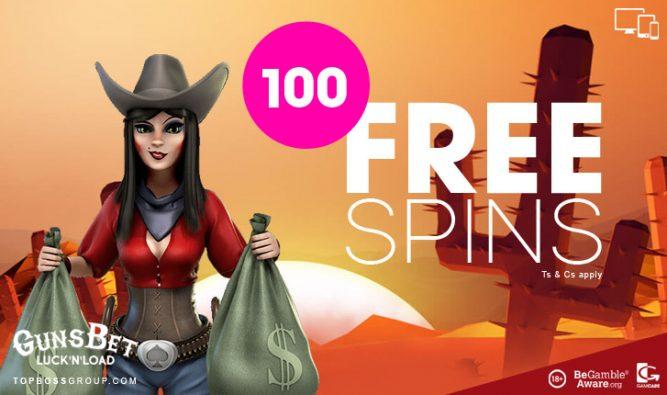 guns bet casino 100 Free Spins